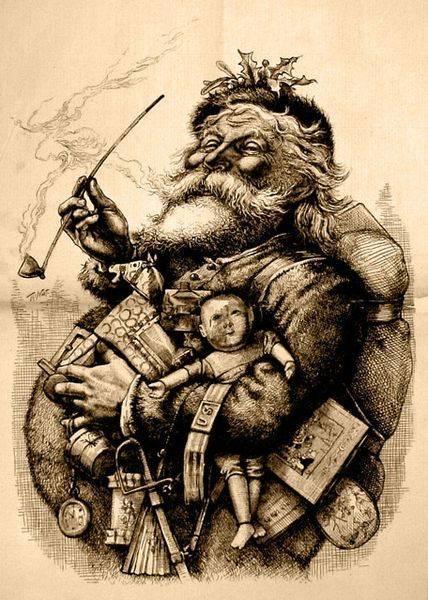 Santa Claus by Thomas Nash