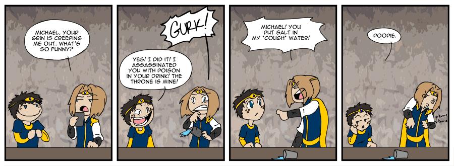 Medieval Mayhem comic strip